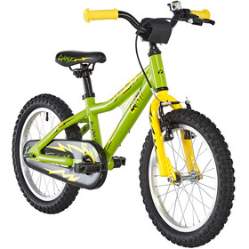 Ghost Powerkid AL 16 Børn, riot green/cane yellow/night black